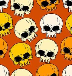 Skull seamless pattern Texture of head skeleton vector image vector image