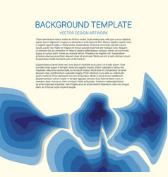 3d abstract blue background with paper cut shapes vector