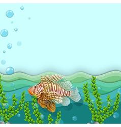 A big fish under the sea vector
