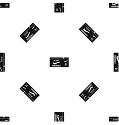 airline boarding pass pattern seamless black vector image