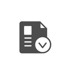 Approved document with check mark icon vector