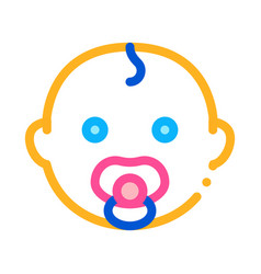 Baby child head icon outline vector