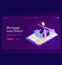 Banner mortgage loan basics vector