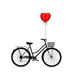 Bicycle with heart vector