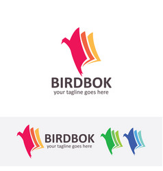 bird book logo design vector image