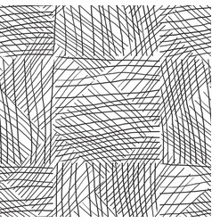 black and white seamless pattern hand drawn vector image