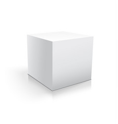 Box white icon template for your design vector