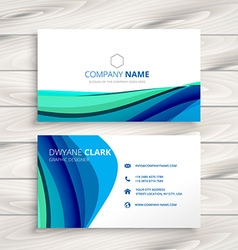 business card made with abstract wave vector image