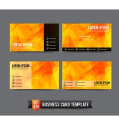 Business Card template set 019 Yellow and Orange vector image