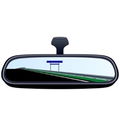 Car mirror and the road-6 vector