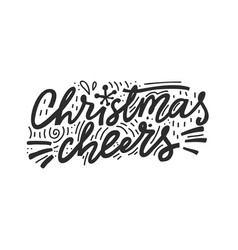 christmas cheers lettering vector image
