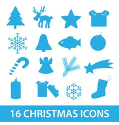 christmas icon collection eps10 vector image vector image