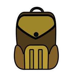 Color education backpack school tool design vector