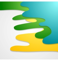 Corporate bright wavy abstract background vector