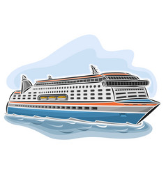 Cruise ferry vessel vector