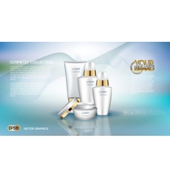 Digital white matte surface skin care cream vector image