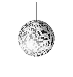 disco ball with light rays isolated on white vector image