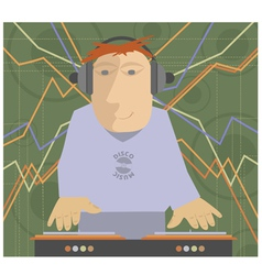 DJ music set vector image