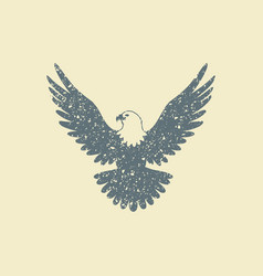 Eagle flat icon vector