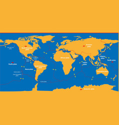 Earths lithosphere vector
