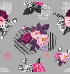 Elegant seamless pattern with semi-colored wild vector