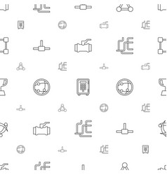 eps icons pattern seamless white background vector image