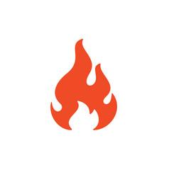 fire flame symbol web icon logo template design vector image