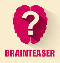 Flat brainteaser icon concept design vector