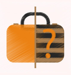 Flat icon in shading style x-ray baggage vector