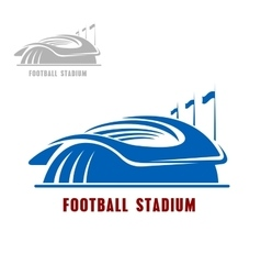 Football or soccer stadium building icon vector