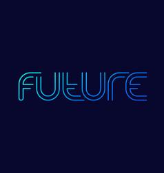 future line design with gradient art vector image