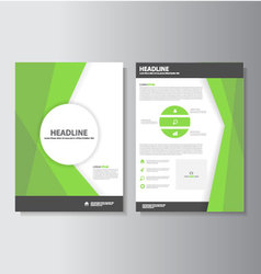 Green brochure flyer leaflet template layout set vector