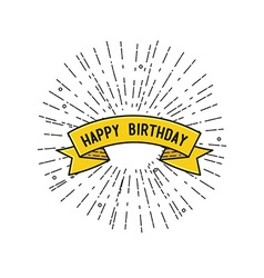 Happy birthday flat design poster vector