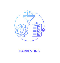 Harvesting concept icon vector