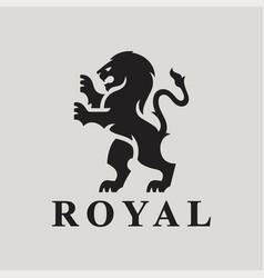 Heraldry lion logo vector