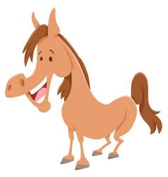 horse cartoon farm animal character vector image