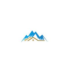 house mountain realty logo vector image
