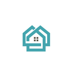 house realty architect logo vector image
