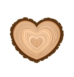 i love wood cutting tree as symbol of heart timber vector image