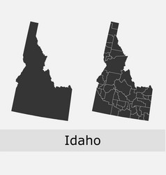 Idaho map counties outline vector