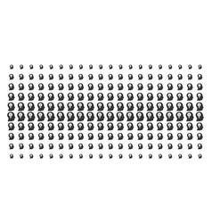 Intellect bulb shape halftone grid vector