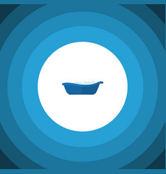 Isolated children bathing flat icon bathtub vector