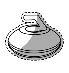 Isolated curling design vector image