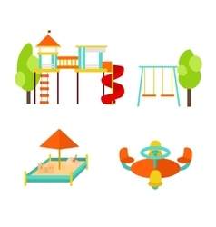 Kids Playground with Elements vector image