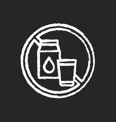 lactose intolerance chalk white icon on black vector image