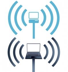 laptop symbols vector image