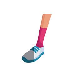 Leg sport with sneaker design graphic vector