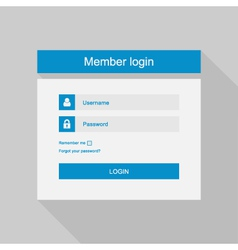 login interface - username and password fl vector image