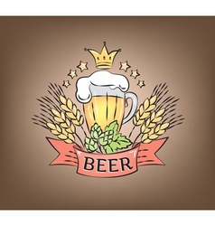 Logo beer vector