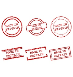 Made in Britain stamps vector image vector image